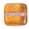 Glass Bead Squares 8mm Two-Tone Sugar Apricot - Strung